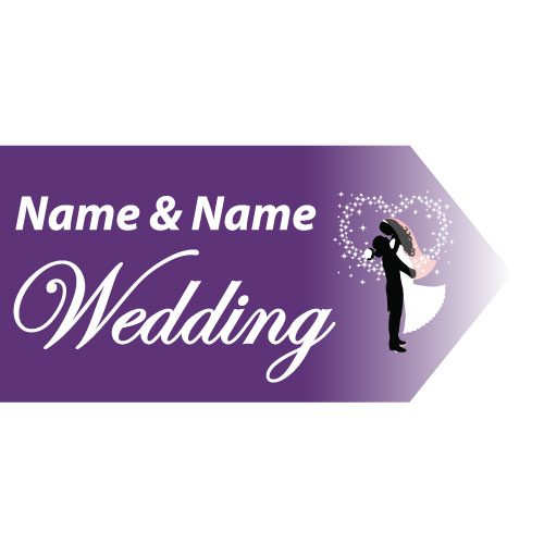 Wedding Road Sign Purple