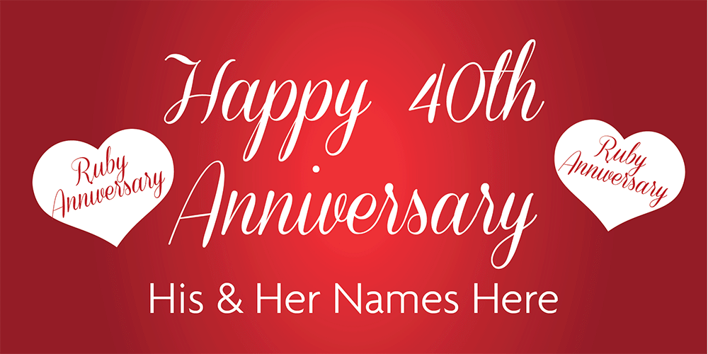 Anniversary Banner Ruby 40th 1