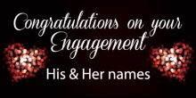 Engagement Banner - Black