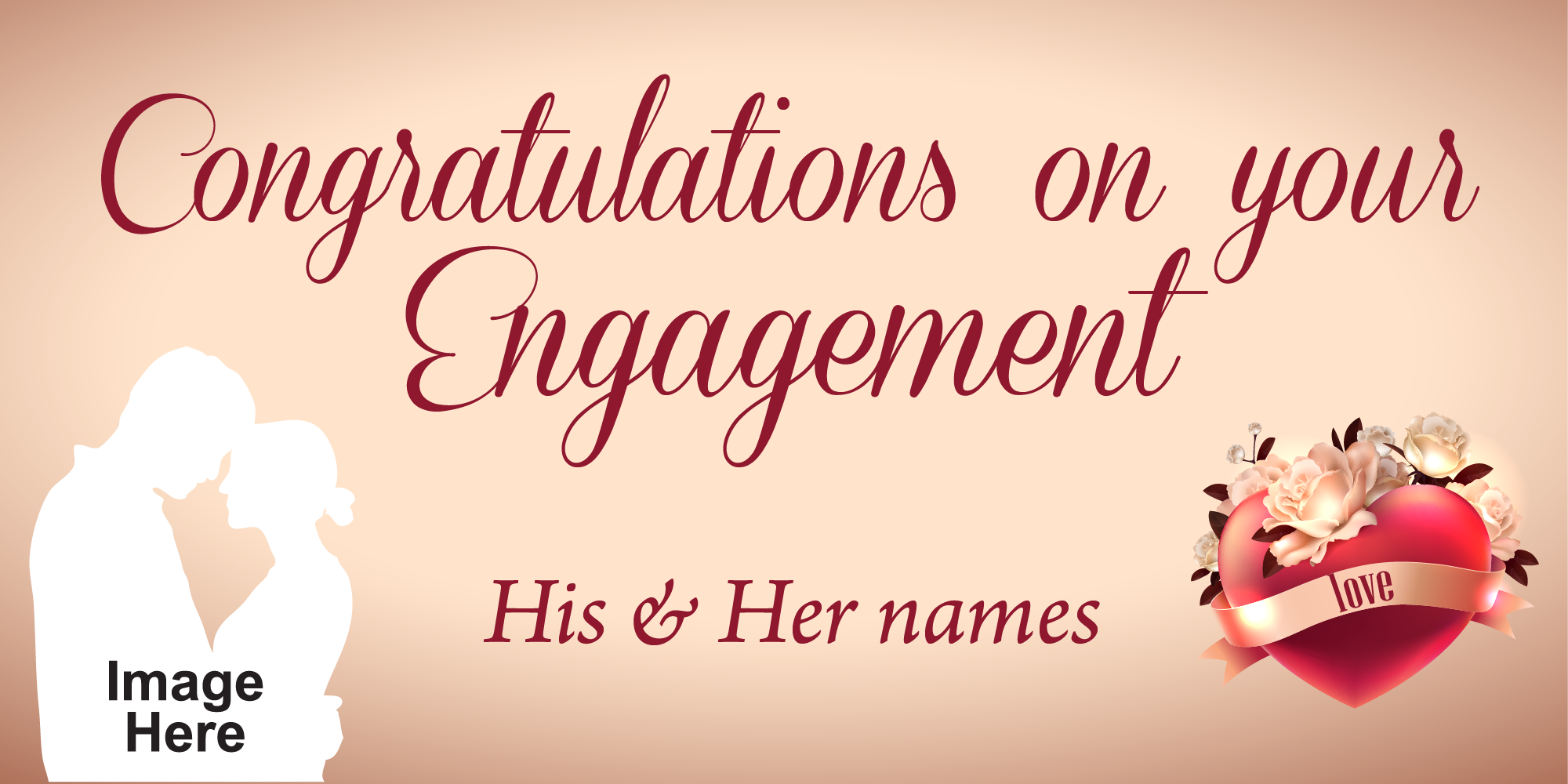 Engagement Banner | Signs for Engagement parties