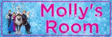 Frozen Pink - Bedroom Door Sign