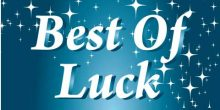 Best of Luck Banner - Blue