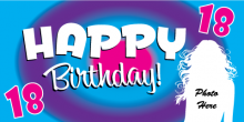 18th Birthday Banner - Circles