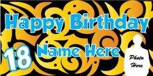 18th Birthday Banner - Tribal
