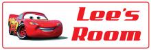 Lightning McQueen - Bedroom Door Sign