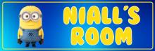 Minion Blue - Bedroom Door Sign