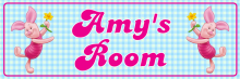 Piglet - Bedroom Door Sign