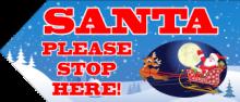 Santa Sign - Sleigh