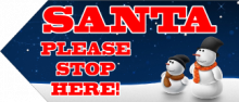 Santa Sign - Snowmen