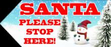 Santa Sign - Trees