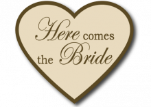 Wedding Sign Beige Heart