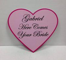 Wedding Sign Pink Heart