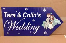 Wedding Road Sign Snowflake
