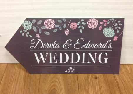 Wedding Road Sign Charcoal