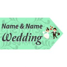Wedding Road Sign - Mint