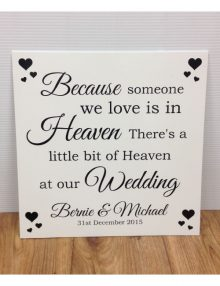 Heaven At Our Wedding Sign - Ivory