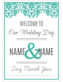 welcome-wedding-sign_teal-lace