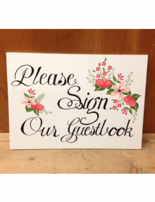 Guestbook Sign - Flowers