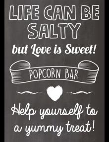 Popcorn Bar Sign - Chalk