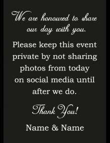 Private Sign - Black