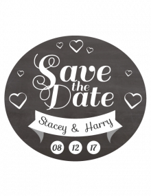 Save The Date Sign - Oval