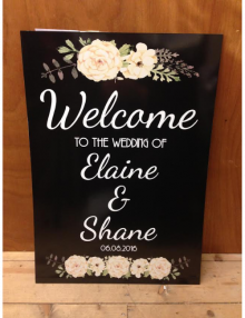 Welcome Sign - Ivory Flowers