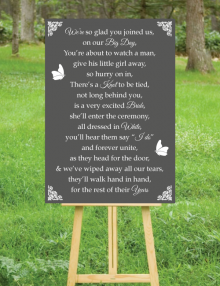 Our Big Day Sign - Charcoal