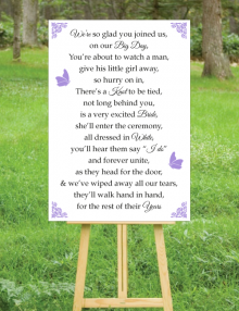 Our Big Day Sign - White
