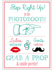 Photobooth Sign - Colour