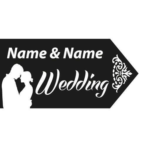 wedding road sign black couple