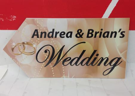 Wedding Road Sign