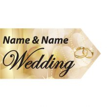 wedding road sign gold