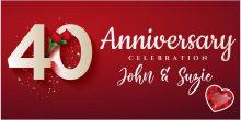 40th anniversary celebrations banner
