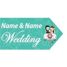 wedding road sign teal