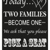 Two Families Sign - Black