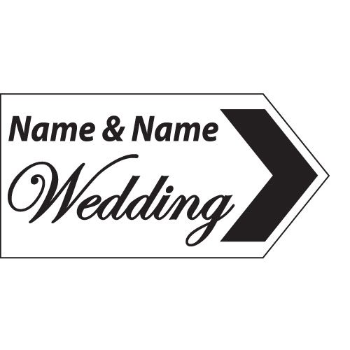 wedding road sign white