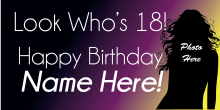 18th Birthday Banner - Dark