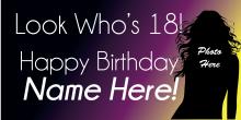 18th Birthday Banner - Dark