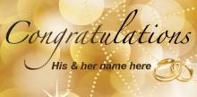 Wedding Banner Gold