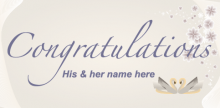 Wedding Banner - Swan