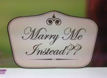 Wedding Sign Five Side