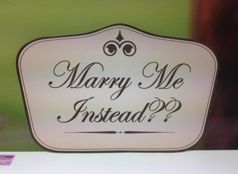 Wedding Sign Five Side