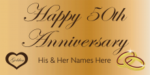 Anniversary Banner - Gold 50th