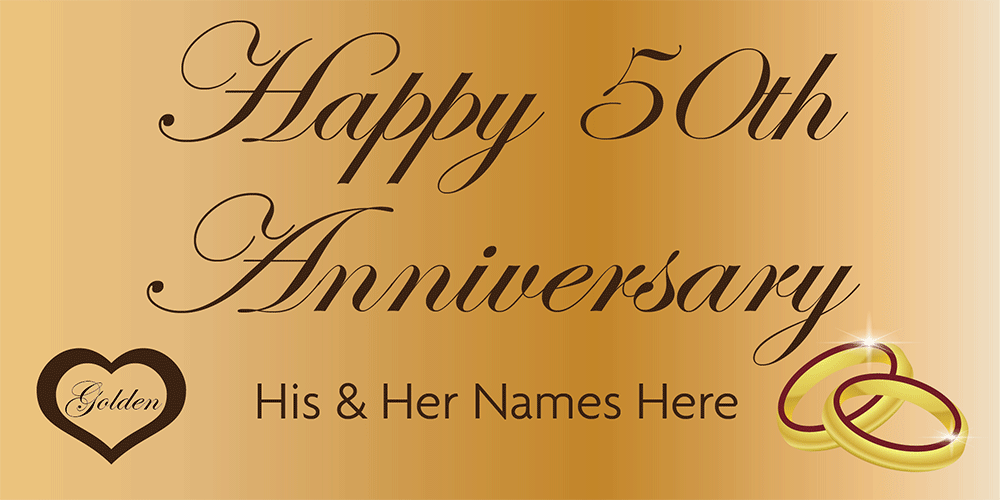 Anniversary Banner Gold 50th