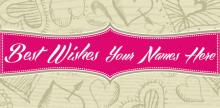 Wedding Banner - Pink