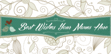 Wedding Banner - Green
