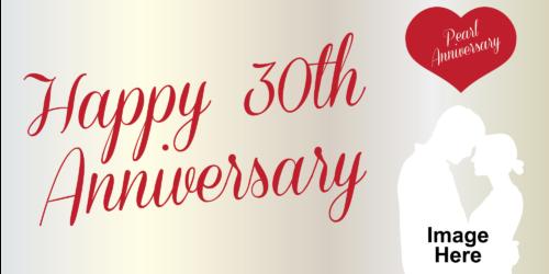Anniversary Banner - Pearl 30th