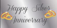 Anniversary Banner - Silver