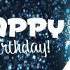 Birthday Banner - Blue Sparkle