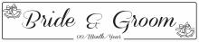 Bride & Groom - Wedding Number Plate